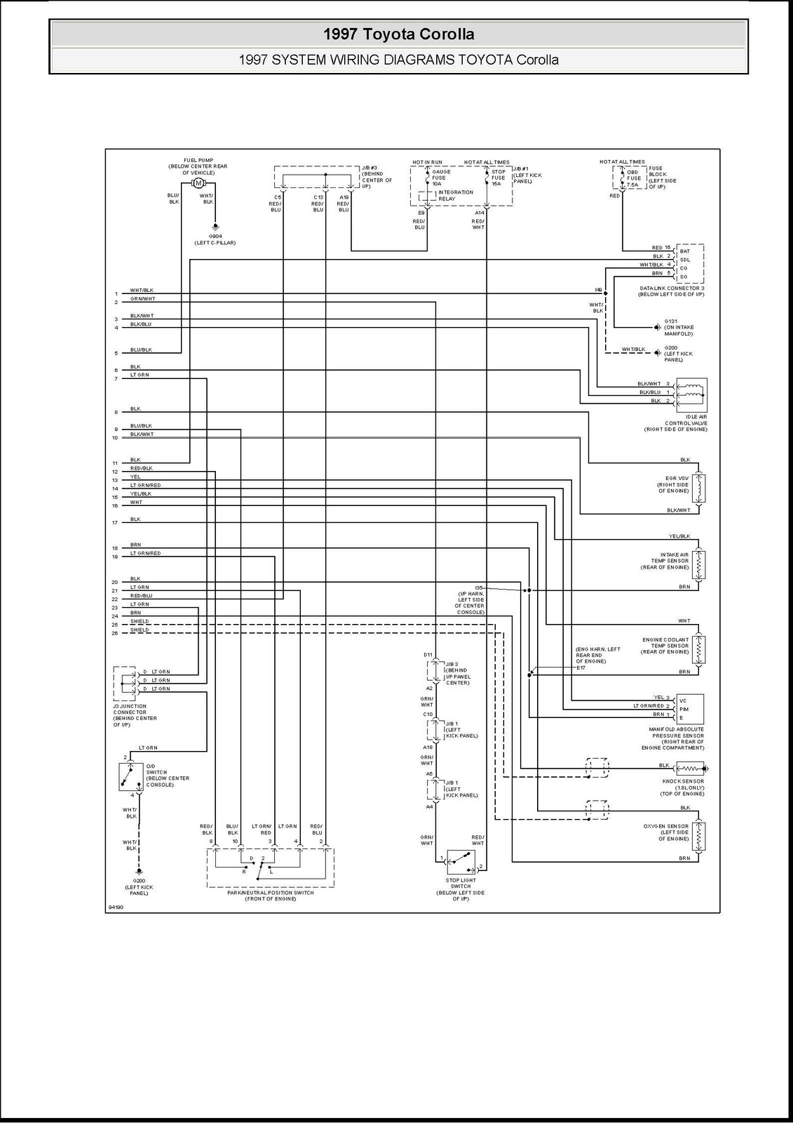 Toyota 3 4 Engine Diagram
