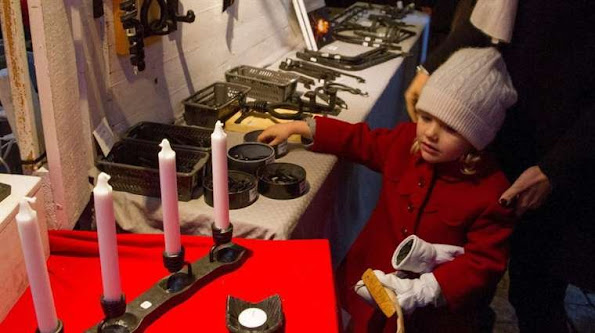 Crown Princess Victoria of Sweden, Princess Estelle, and Prince Daniel visited the Christmas Market in Stockholm
