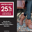WINTER EVENT 25% OFF, a great range of coats & boots....