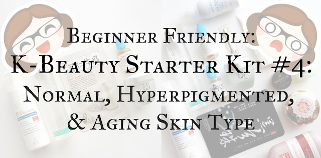 Korean beauty skincare routine for normal, aging skin