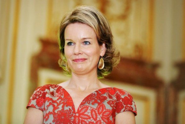 King Philippe and Queen Mathilde visited the exhibition of science and culture (Science et culture au Palais) at Royal Palace Queen Mathilde wore Paule Ka dress