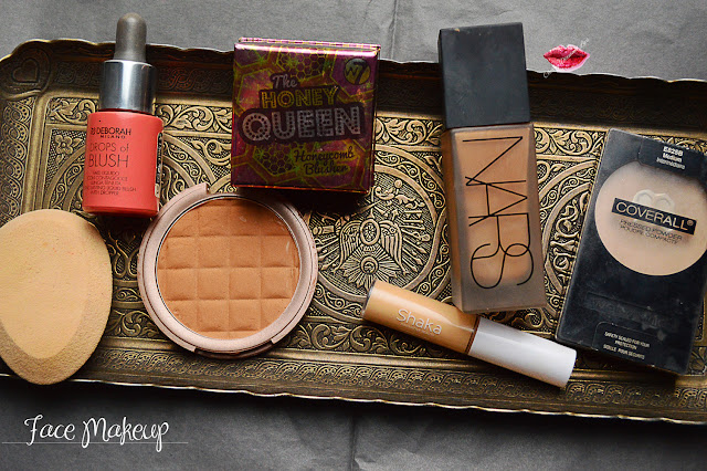 Everyday Makeup Routine Base, Cherry Diamond Lips, Nars, Wet'n'Wild, Miss Cop, W7, Deborah Milano, Makeup Revolution