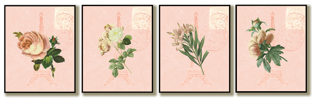 Pink, Flowers, Eiffel Tower, Etsy, Art, Create, Decor, Design