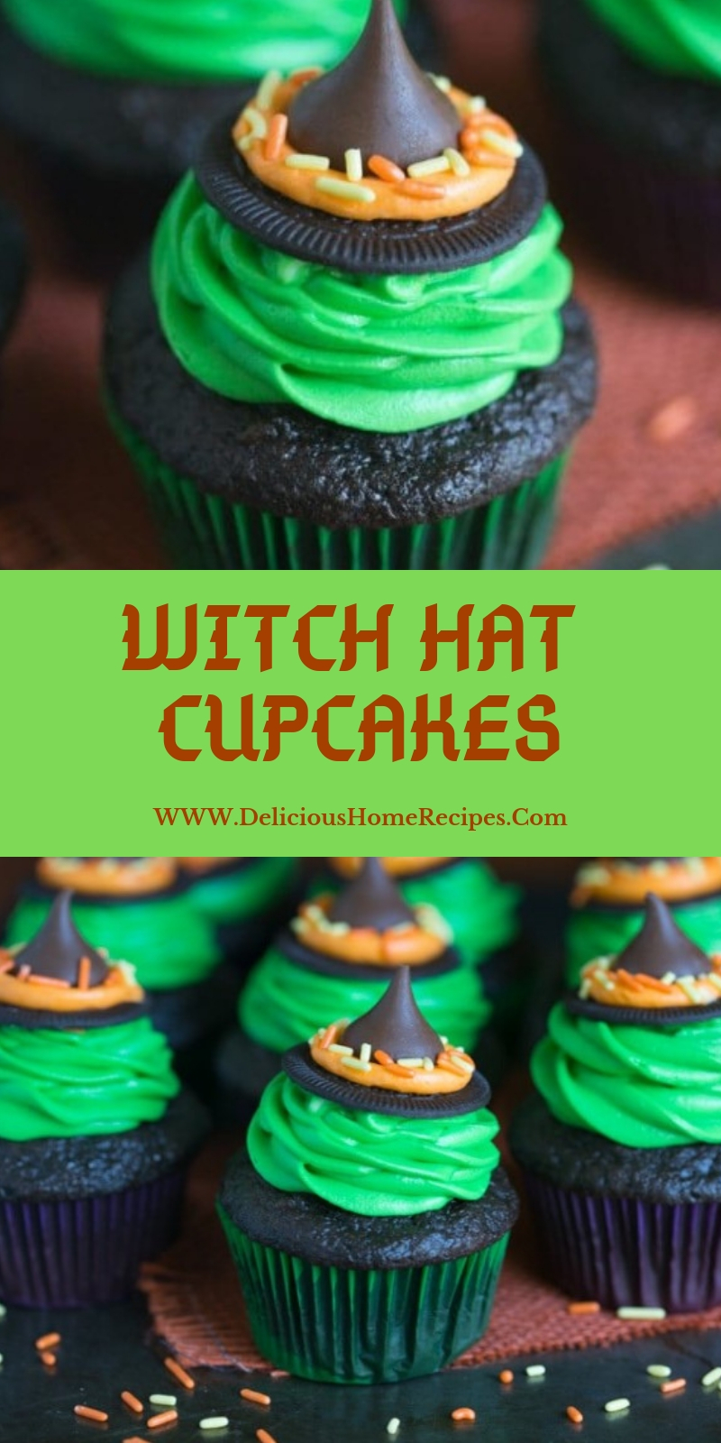 Witch Hat Cupcakes #christmas #dessert