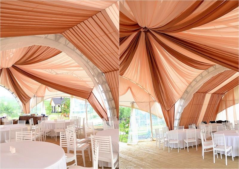 драпировка шатра на свадьбу