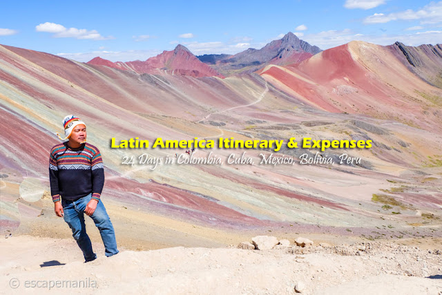 Latin America Itinerary and Expenses