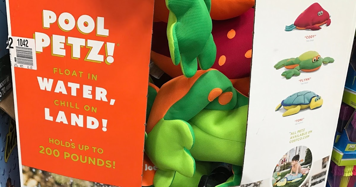 Pool petz floating pool toy turtle crab or frog costco weekender - Costco toys for kids ...