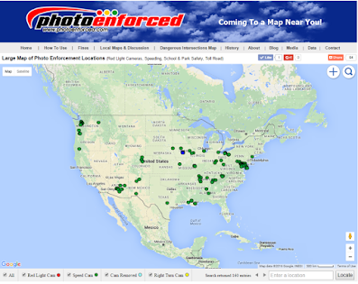 Map of Cities & Counties Using Mobile Speed Zone Cameras