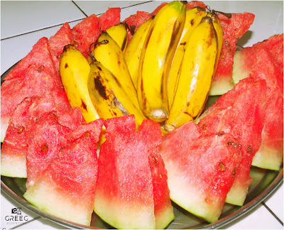 Watermelon and Banana
