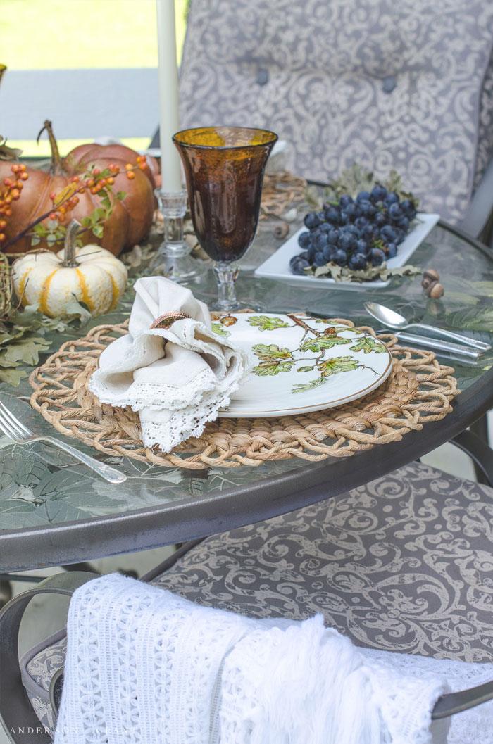 Outdoor Fall Tablescape Anderson Grant