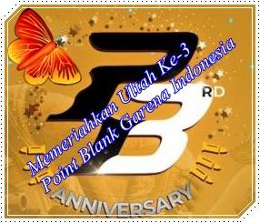 Code Redeem PB Garena Ultah Ke-3 Event Share dan Lovers ...