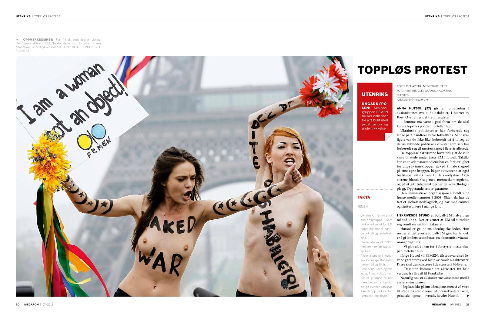 Page 43 Insp Group Shop Cheap From China Suppliers At Alwaysbetter On The Topless Activists Of Ukraines Femen Womens Rights Made Name In Norway Street Paper Megafon Ran A Story About Whose