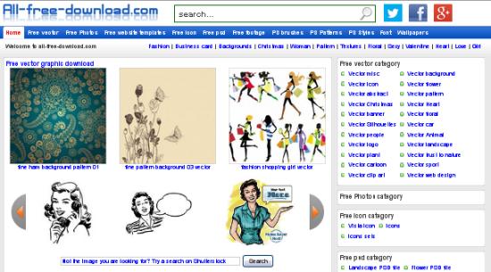 Situs Penyedia Vector Gratis All Free Download