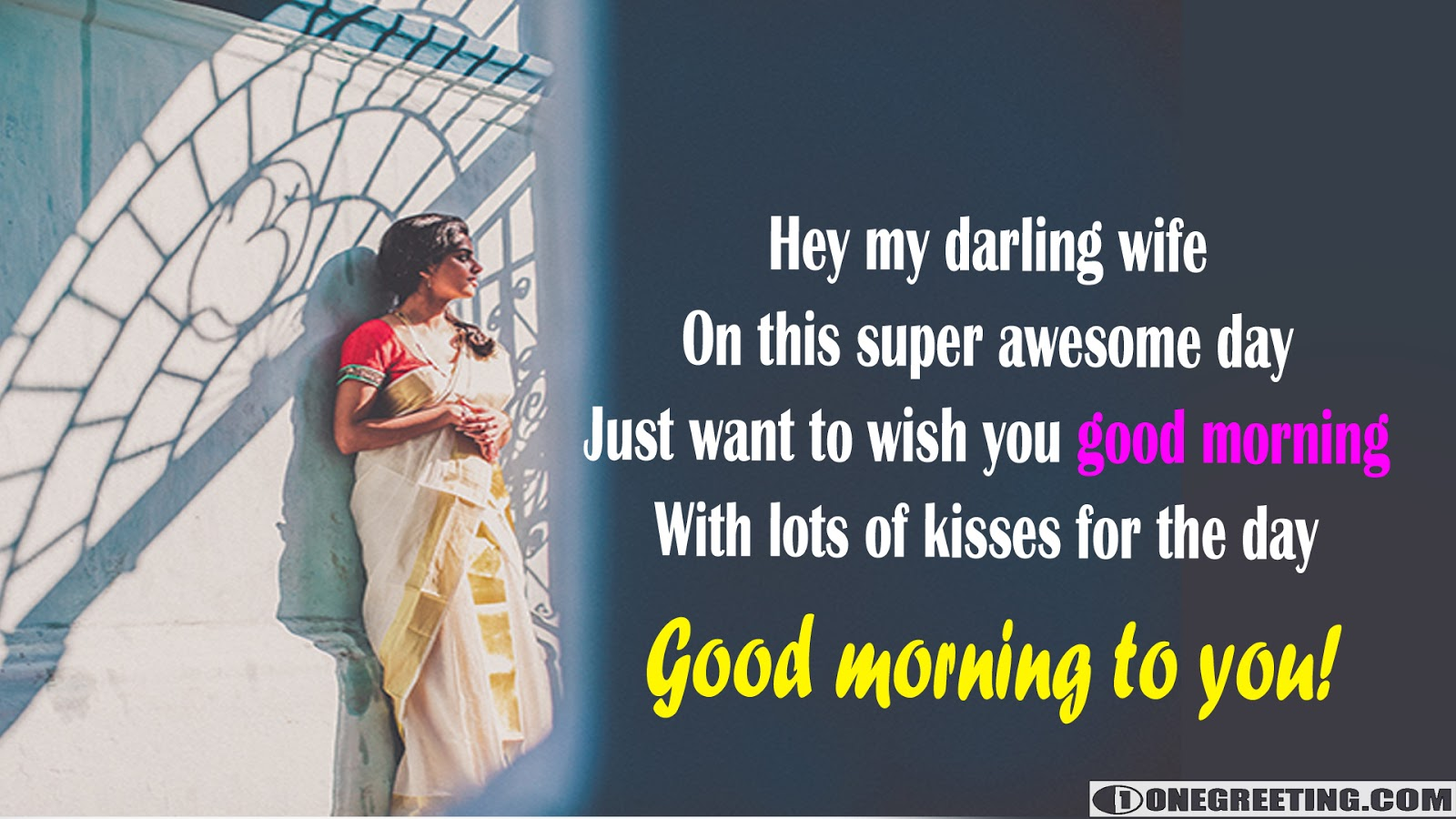 Hey My Darling Wife Good Morning One Greeting