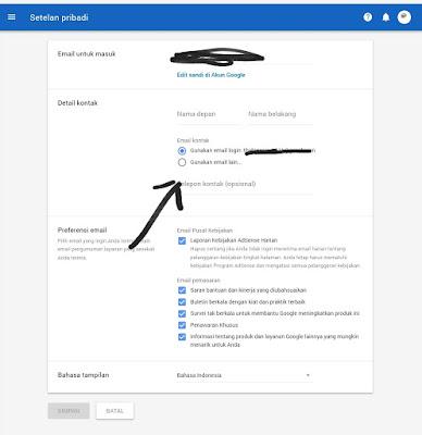 Bagaimana Ganti Email Adsense Ganti Email Pembayaran dan Email Login