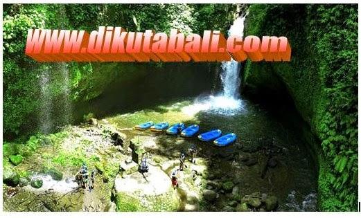 Lokasi air terjun terindah di Bali sambil berafting ria