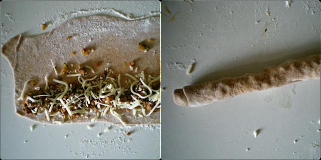 Börek con harina de espelta: montaje de la börek