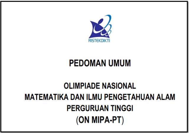 download Pedoman Olimpiade Nasional Matematika dan IPA Perguruan Tinggi 2018