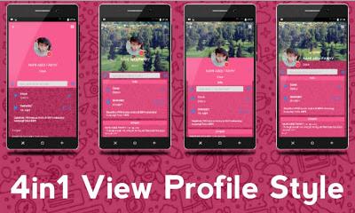 BBM Mod iMessenger V7 Themes Cute Pink 3.0.1.25 Apk