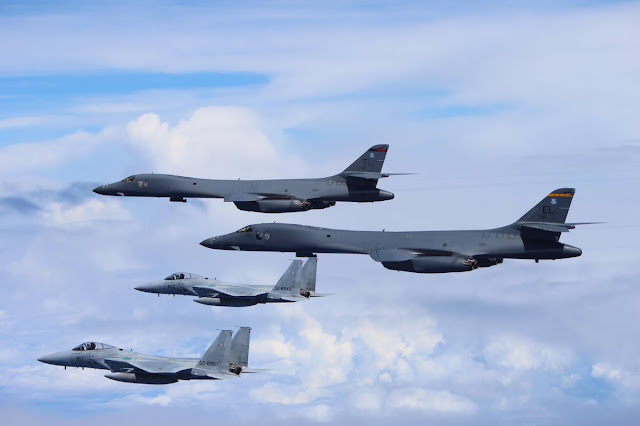 U.S. Forces Japan: - Page 2 JASDF%2BF-15s%2Bwith%2BUSAF%2BB-1s%2B3