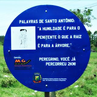 Placa de Dois Quilômetros - Caminho de Santiago, Santo Antônio da Patrulha