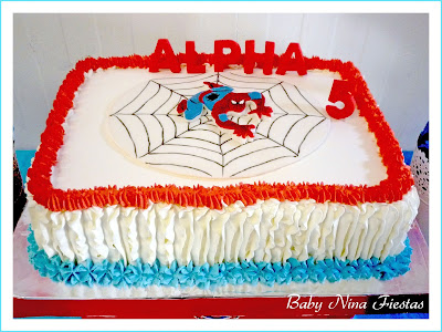 tarta de crema spiderman