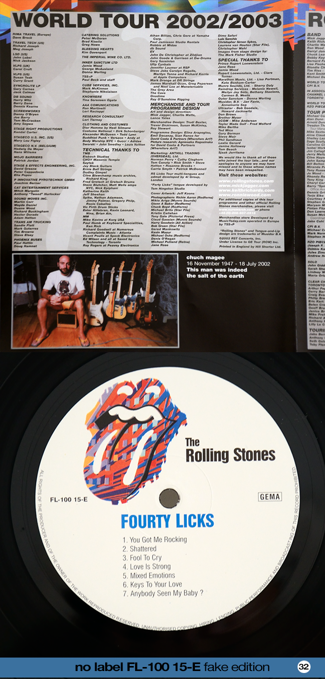 Rollingstonesvaults The Rolling Stones Lp N 186 32 Forty Licks