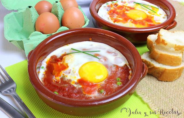 Huevos al plato. Julia y sus recetas