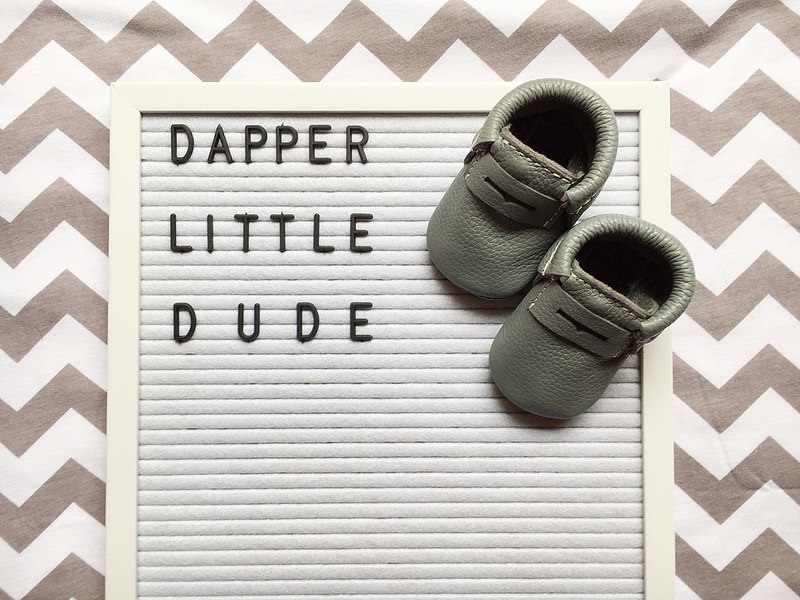 Freshly Picked Moccasins for our Dapper Little Dude {Baby #3} + Giveaway