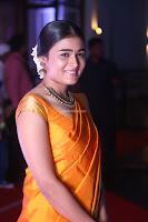 Shalini Pandey in Beautiful Orange Saree Sleeveless Blouse Choli ~  Exclusive Celebrities Galleries 034.JPG