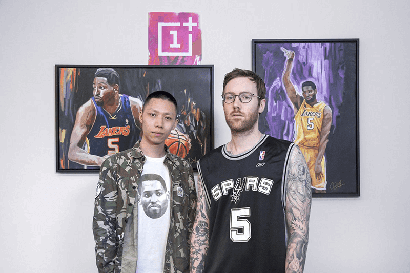The image OnePlus posted on Twitter #GoSpursGo