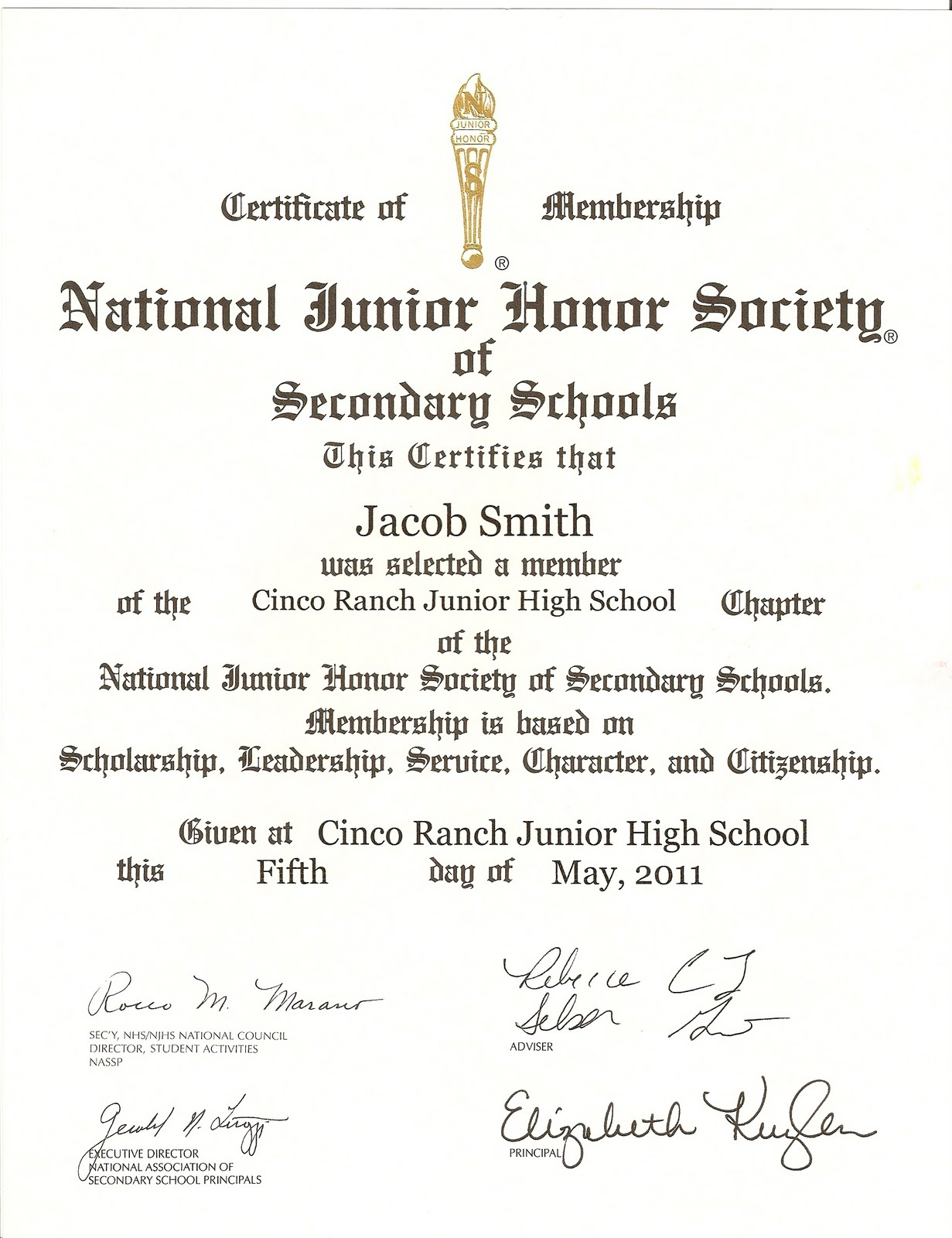 national honor society certificate template having a ball with the smith 39 s njhs induction
