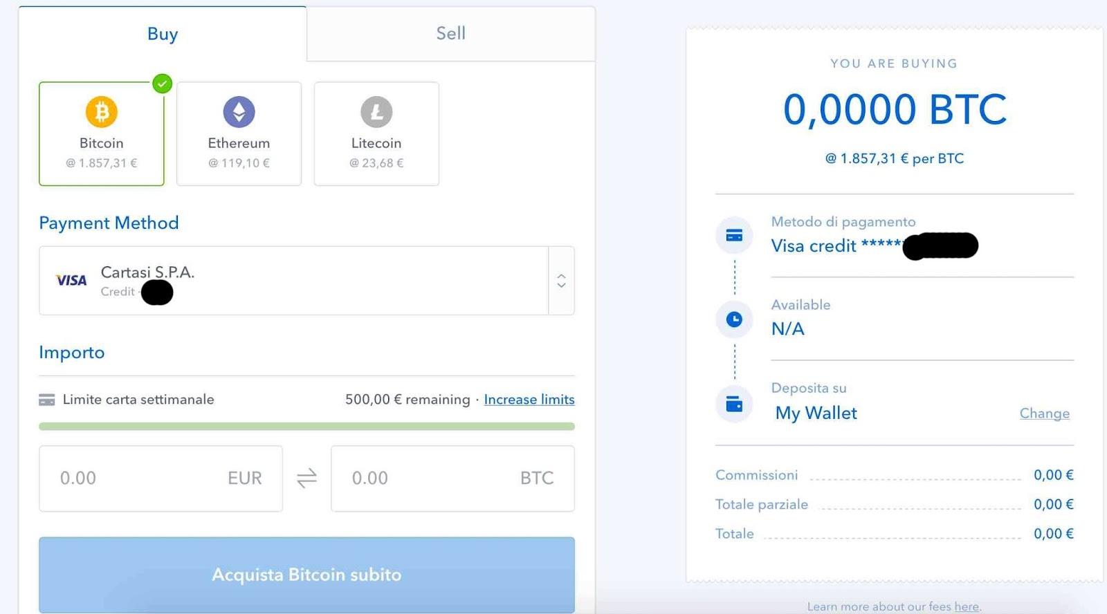 acquista bitcoin nyc