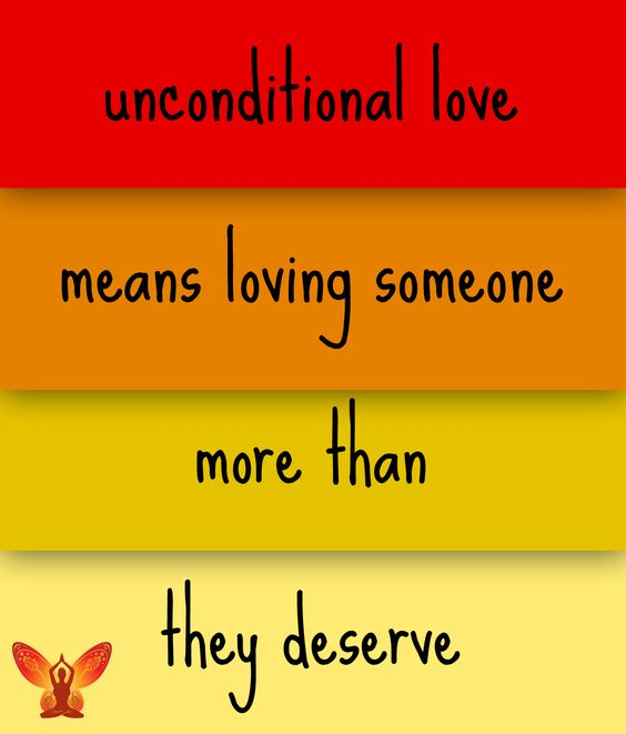 Unconditional love means