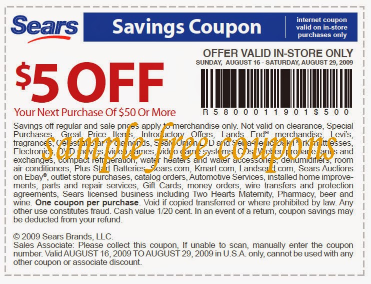 picture about Sears Auto Printable Coupons identified as Sears tire coupon codes : Suitable purchase appliances clearance