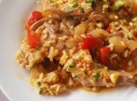 arroz con conejo y setas