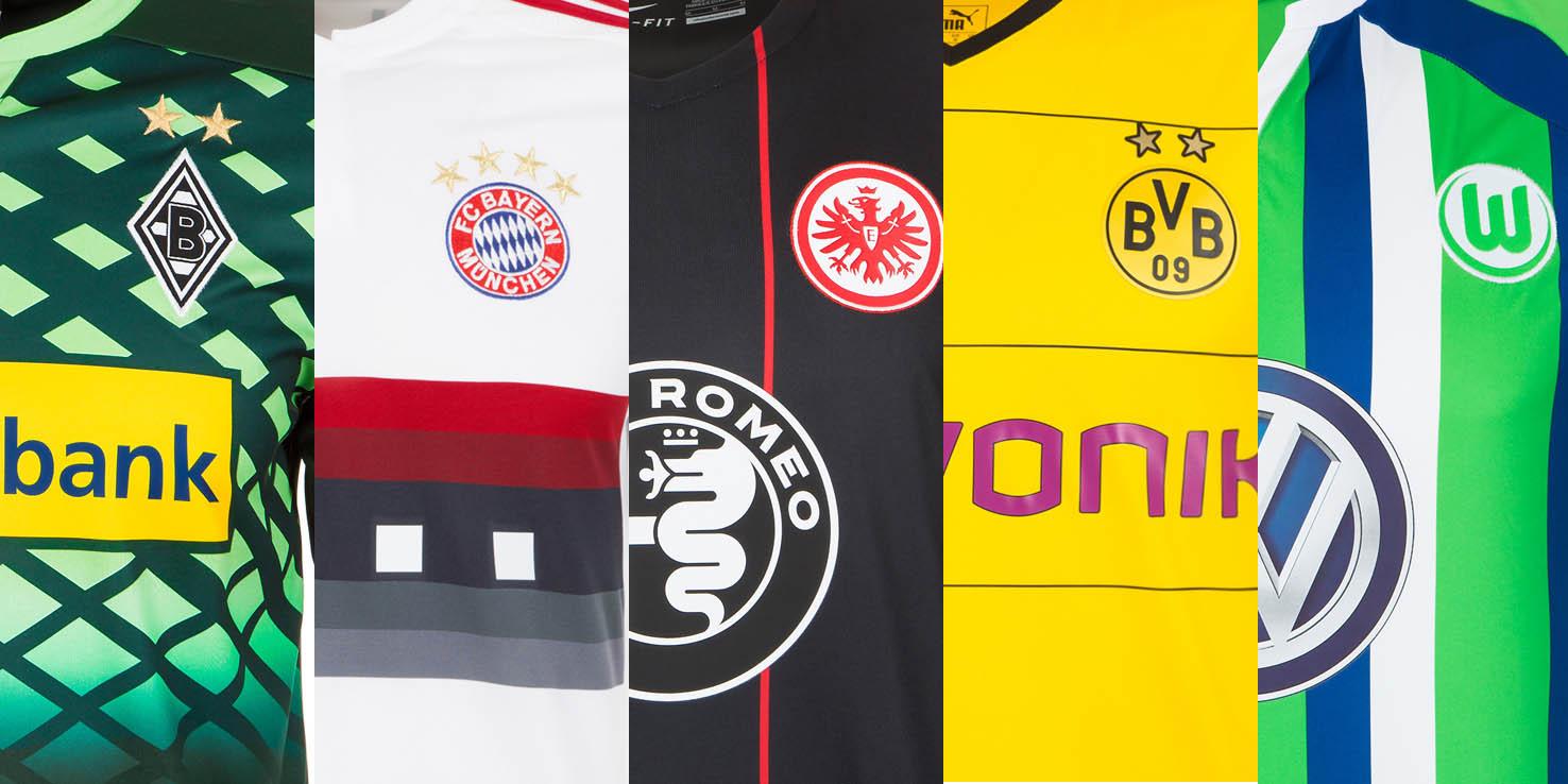 Alle bundesliga vereine haben bereits ihre neuen trikots for Bundesliga trikots