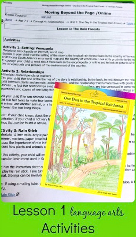 moving beyond the page language arts guide from School Time Snippets