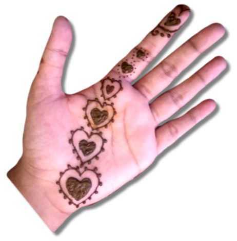 Heart Mehndi Designs