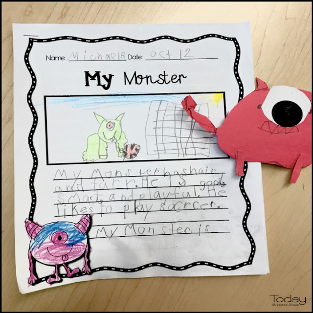 create a monster writing activity for grade