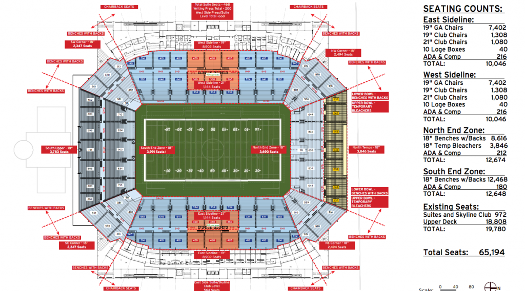 citrus bowl seating chart - Images for citrus bowl seating chart