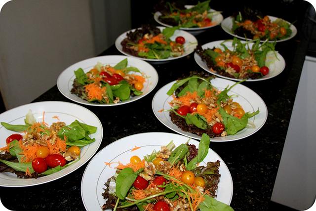 Salada : Decoração do Jantar Dia dos Namorados