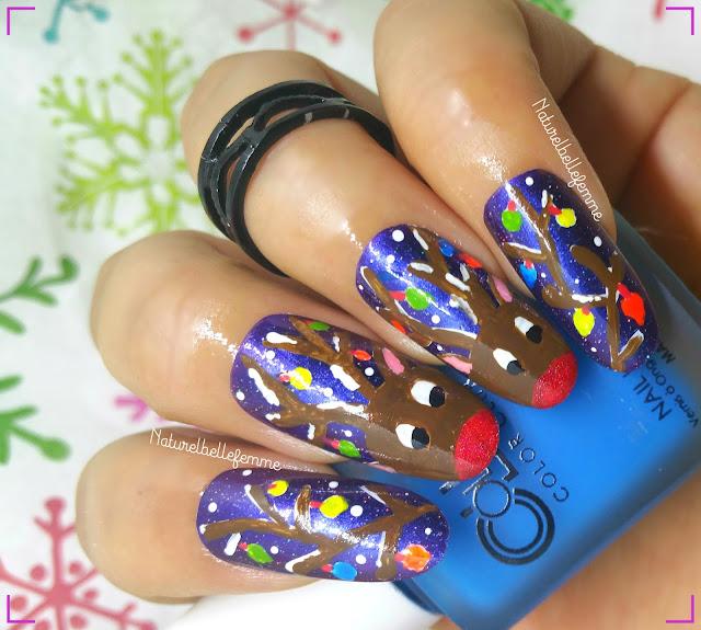 christmas lights nails