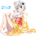 Tags: Render, Barefoot, Feet, High School DxD, Loli, Pantsu, Short hair, Small breasts, Toujou Koneko, White hair, Yukata