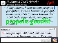 testimoni propolis goodfit untuk asam urat