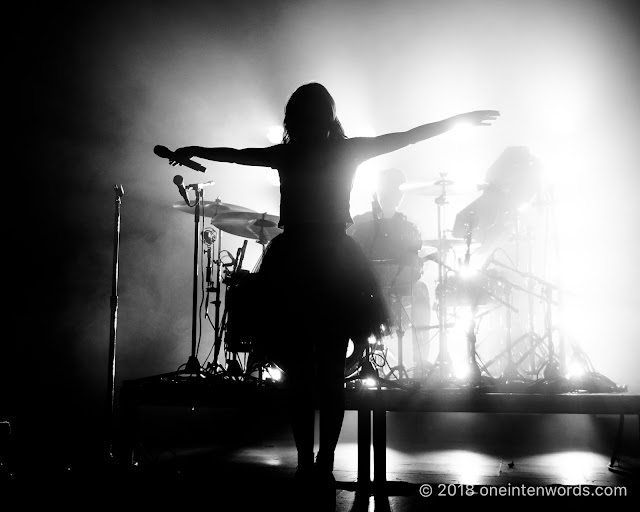 Chvrches at The Danforth Music Hall on May 19, 2018 to celebrate the One-Year Anniversary of the Josie Dye show on Indie 88 Photo by John Ordean at One In Ten Words oneintenwords.com toronto indie alternative live music blog concert photography pictures photos