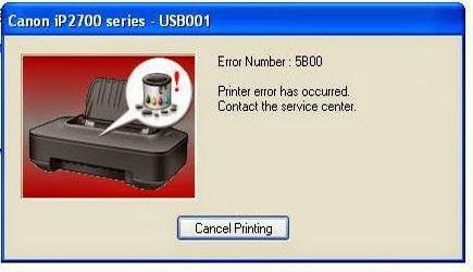 Cara Memperbaiki Printer Canon iP 2770 Error 5B00