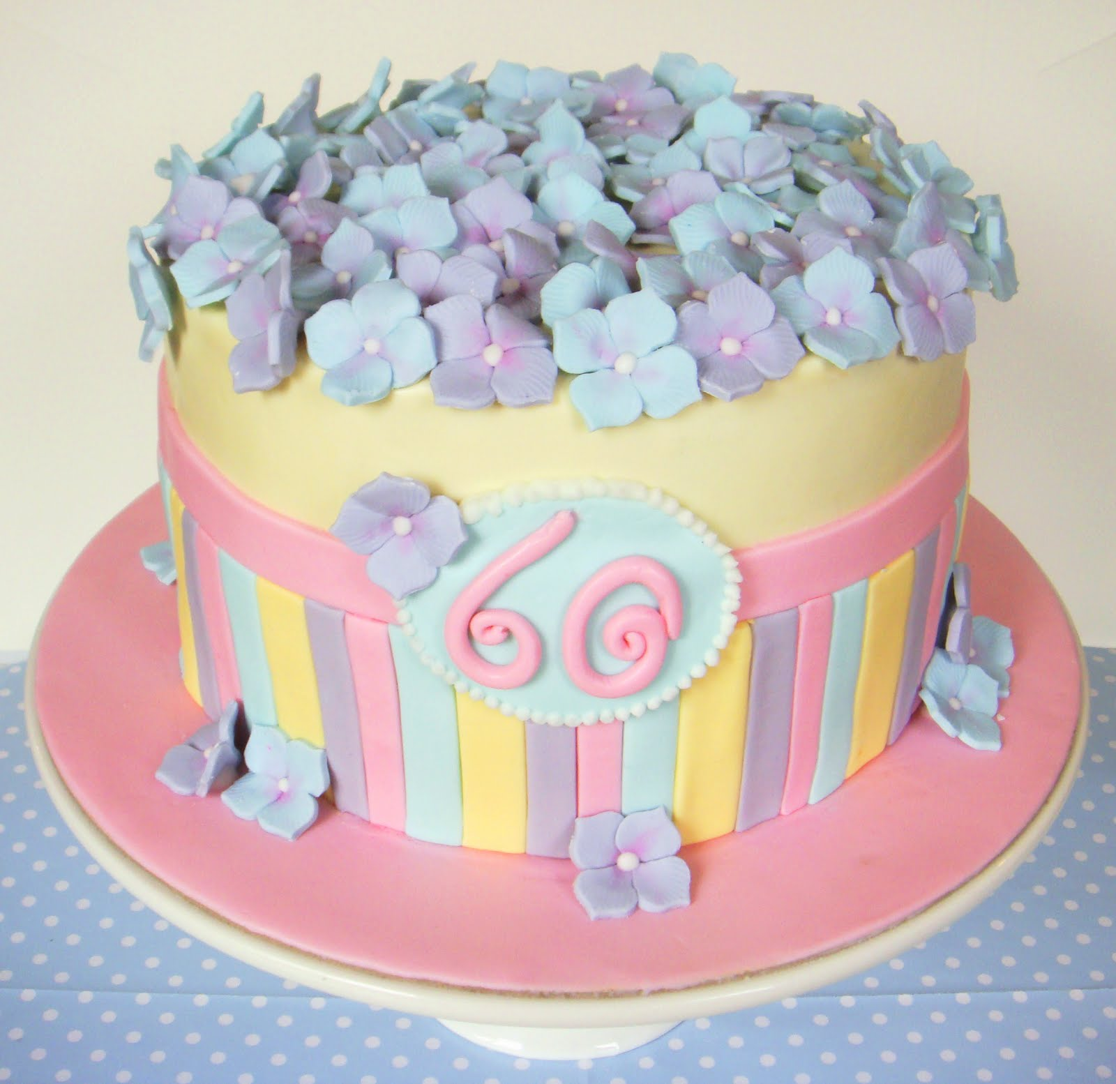 Butter Hearts Sugar: Pastel Hydrangea Cake