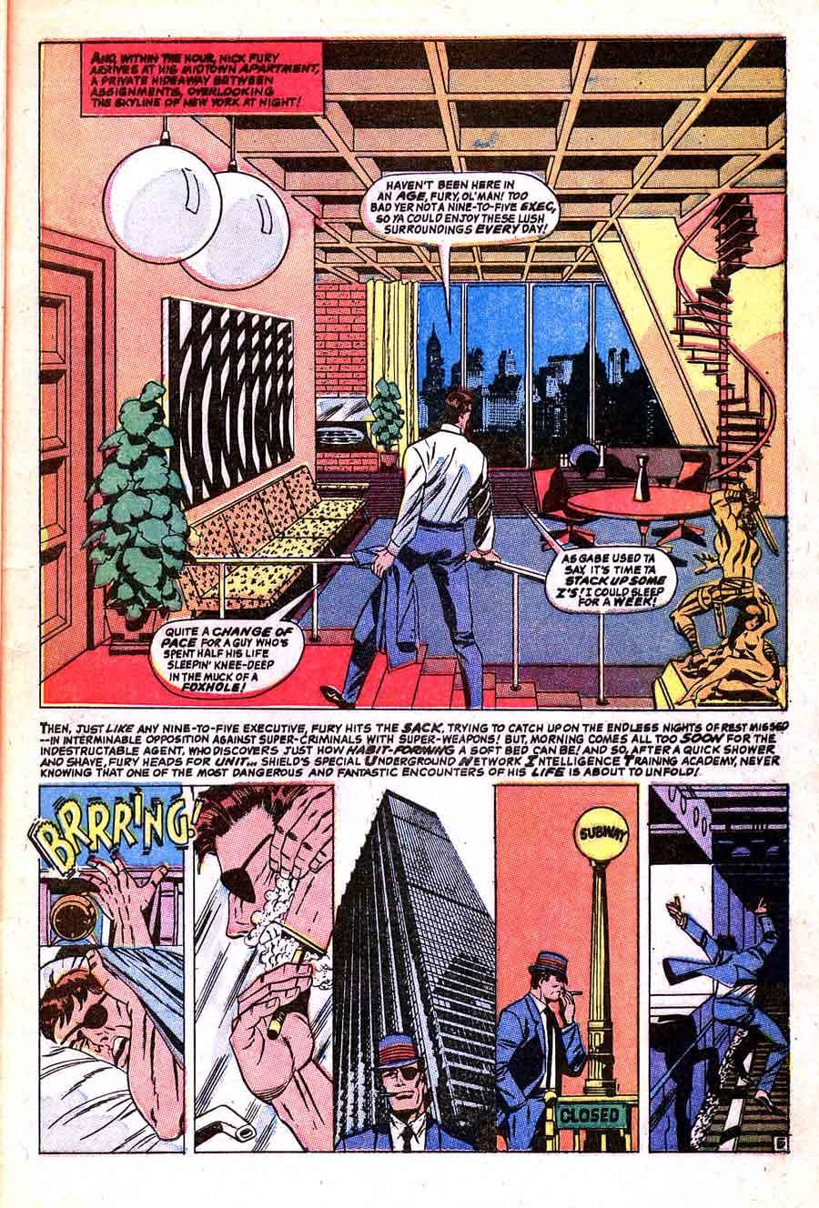 Strange Tales v1 #159 nick fury shield comic book page art by Jim Steranko