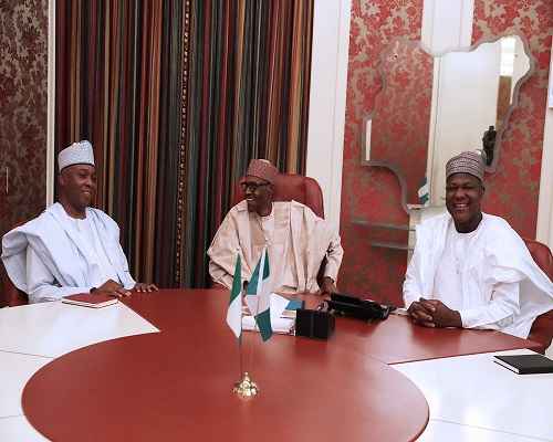 What Buhari told Saraki, others after meeting at Aso Rock